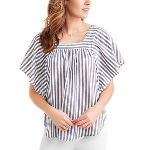 Time and Tru Batwing Short Sleeve Striped Top XL